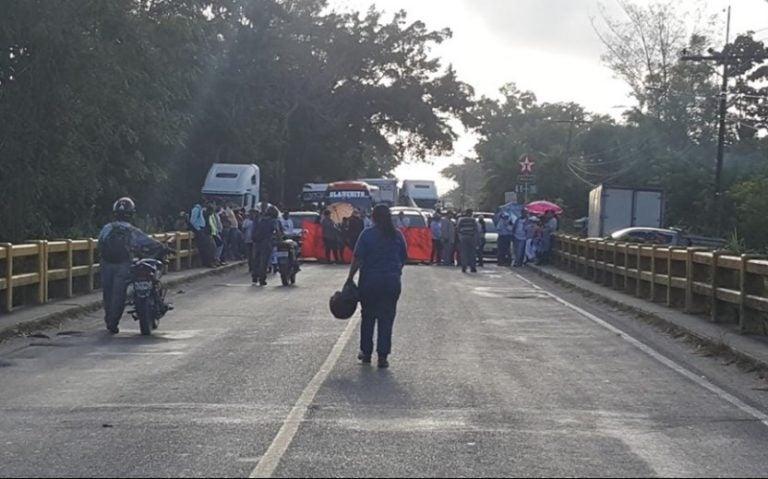 Protestas en la zona Norte; hay detenidos en El Progreso