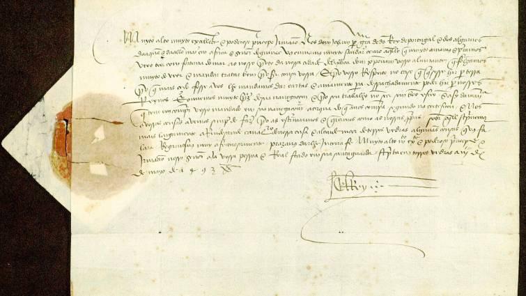 Descubren la única carta que informa el regreso de Colón tras descubrir América