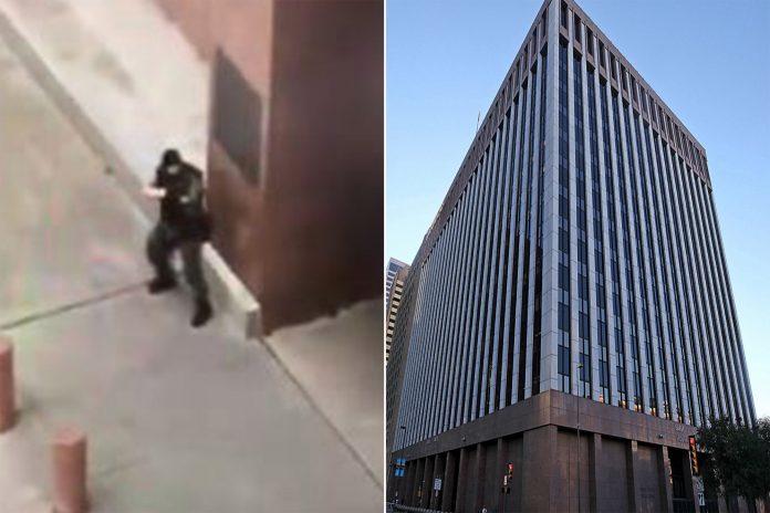 tiroteo en el edificio federal