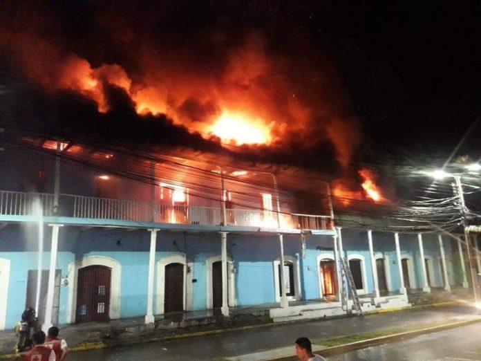 incendio edificio histórico