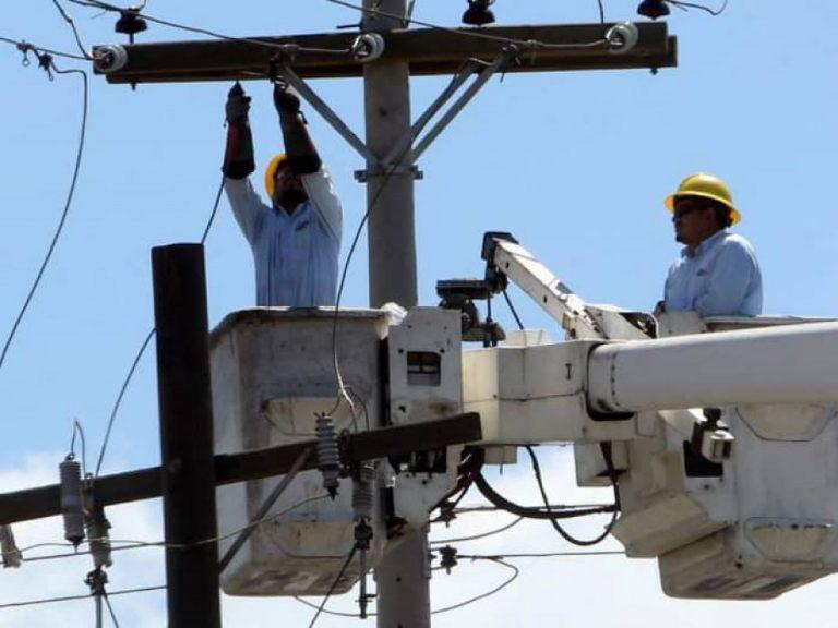 EEH anuncia cortes de energía en zonas Centro, Oriente y Norte
