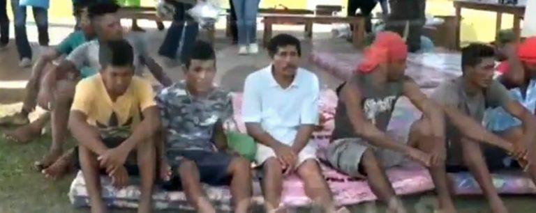 Llegan a tierra firme 48 sobrevivientes de naufragio en La Mosquitia