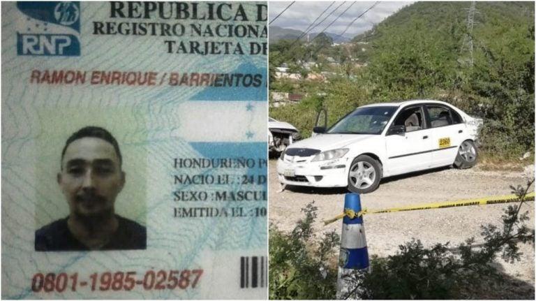 Comayagüela: identifican a taxista asesinado en colonia Villeda Morales