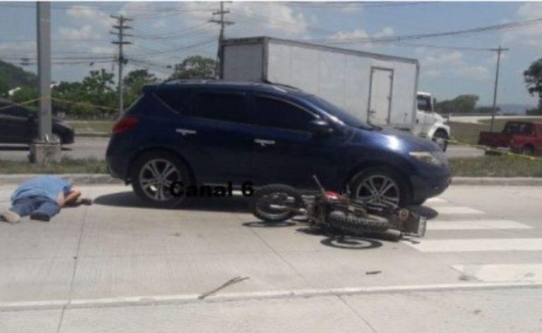 Hombre muere atropellado en el bulevar del norte de San Pedro Sula