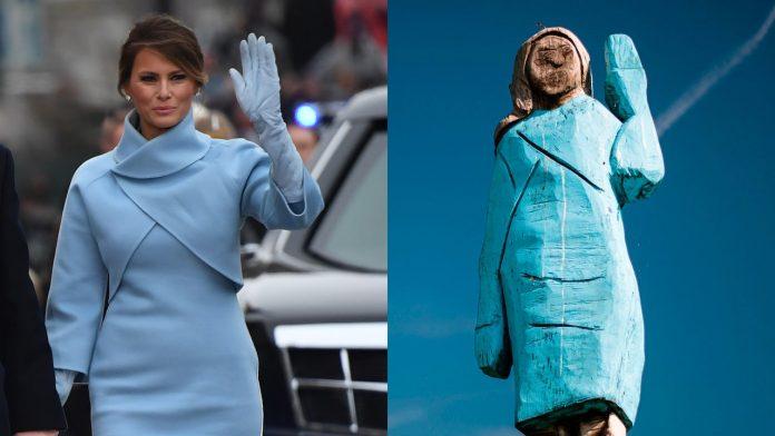 estatua de Melania Trump