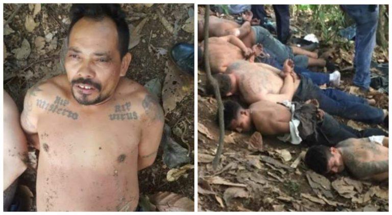 Once supuestos miembros de la MS-13 son detenidos en El Merendón