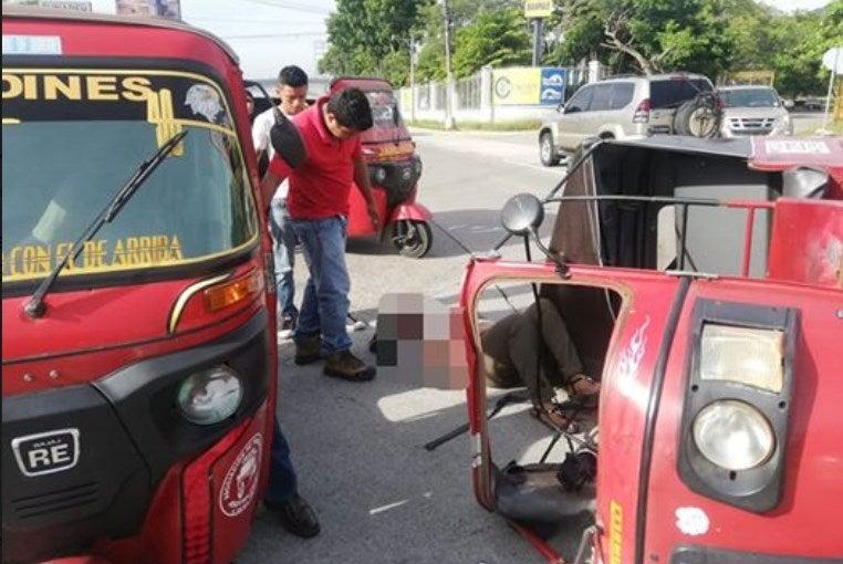Autobús atropella a mototaxi en San Pedro Sula; hay tres personas lesionadas