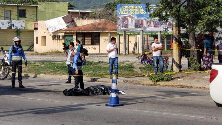 Choloma: mujer es atropellada por un cabezal y muere