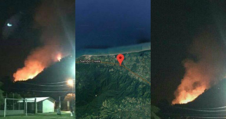 Arde cordillera hondureña entre La Ceiba y Jutiapa, Atlántida