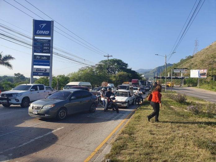 mujer atropellada en Chamelecón