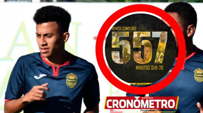 Real España cumple en tiempo récord los minutos jugador Sub-20