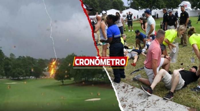 INÉDITO: Un rayo es protagonista en un torneo de golf en Atlanta
