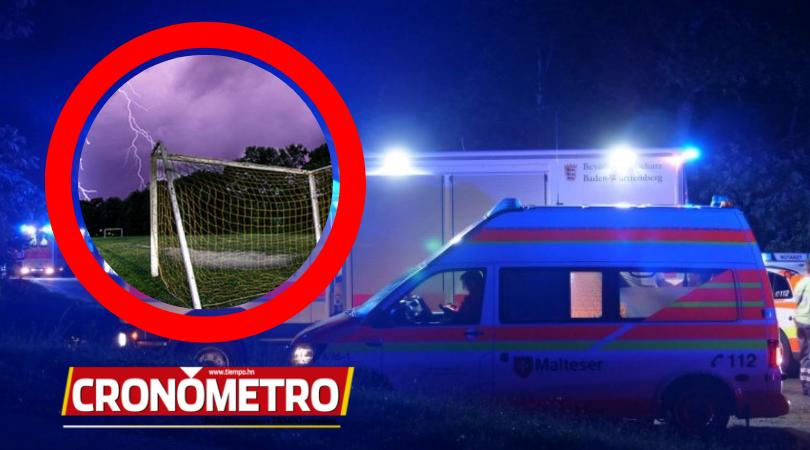 ¡INUSUAL! 15 jugadores fueron heridos por un rayo mientras entrenaban