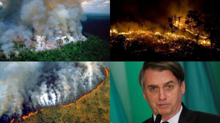 ¡TRAGEDIA! El Amazonas arde en llamas; ¿Jair Bolsonaro es el culpable?