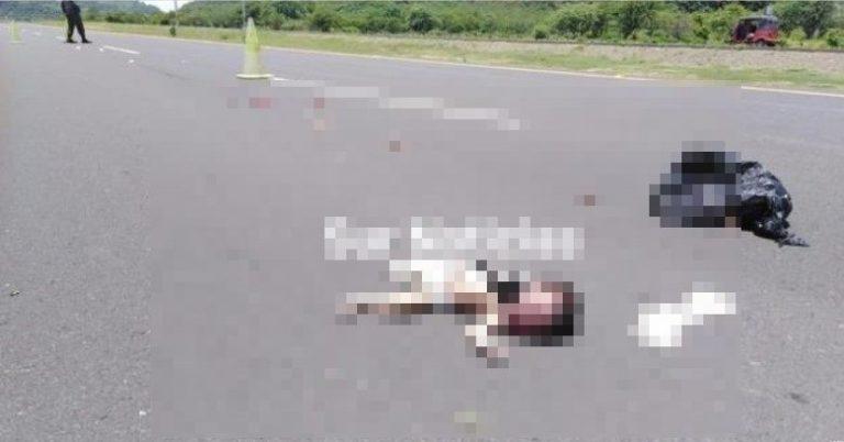 Desalmados lanzan a bebé dentro de una bolsa en carretera del sur
