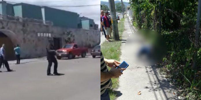 enfrentamiento en La Ceiba