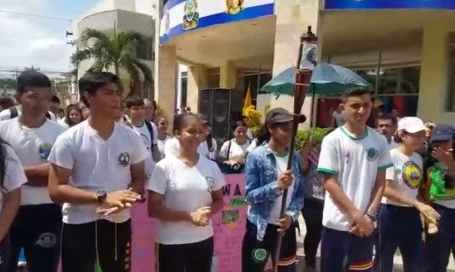 Honduras: Antorcha Centroamericana de la Paz y la Libertad llega a El Progreso
