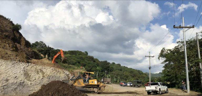 Cucuyagua, Copán: tras derrumbe habilitan paso en la carretera CA-4