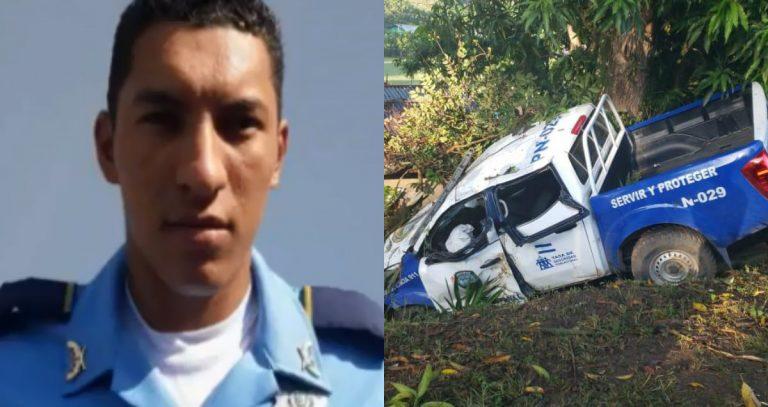 Volcamiento de patrulla deja a un policía muerto y tres heridos en Santa Cruz de Yojoa