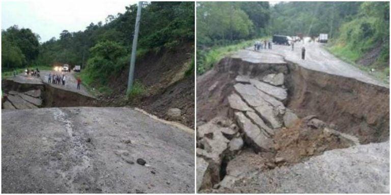 Copán: accidente vial en incomunicada carretera CA-4
