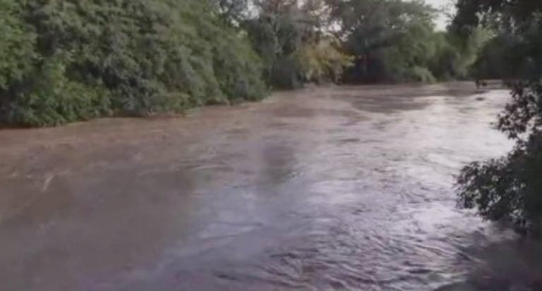 Comayagua: varias viviendas afectadas por el desborde del río Humuya
