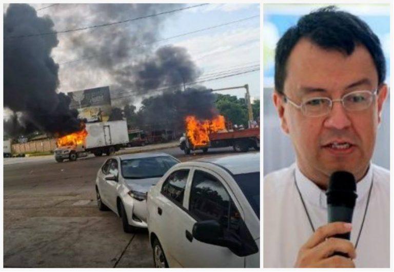 Portavoz de Iglesia: «situación del país es grave; que no pase lo de Chile y Culiacán»