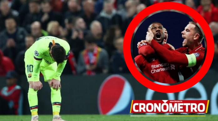 Barcelona revela imágenes del camerino luego de la remontada del Liverpool
