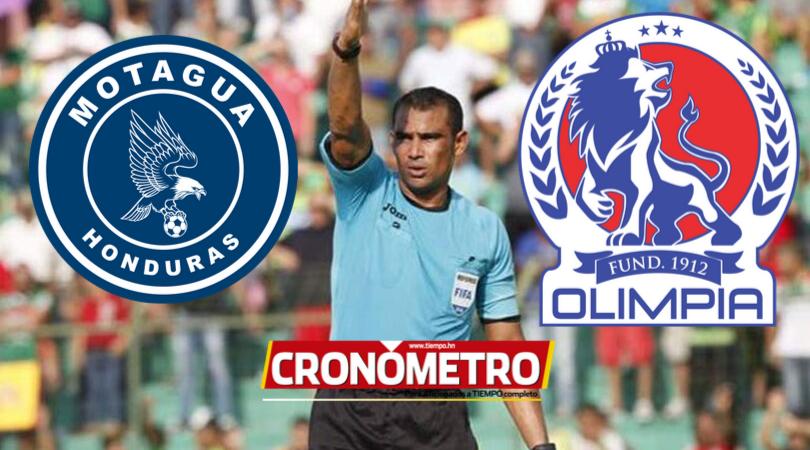 Oscar Moncada será el encargado de dirigir el Motagua vs. Olimpia