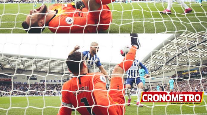 La escalofriante lesión de Hugo Lloris en la derrota del Tottenham vs. Brighton