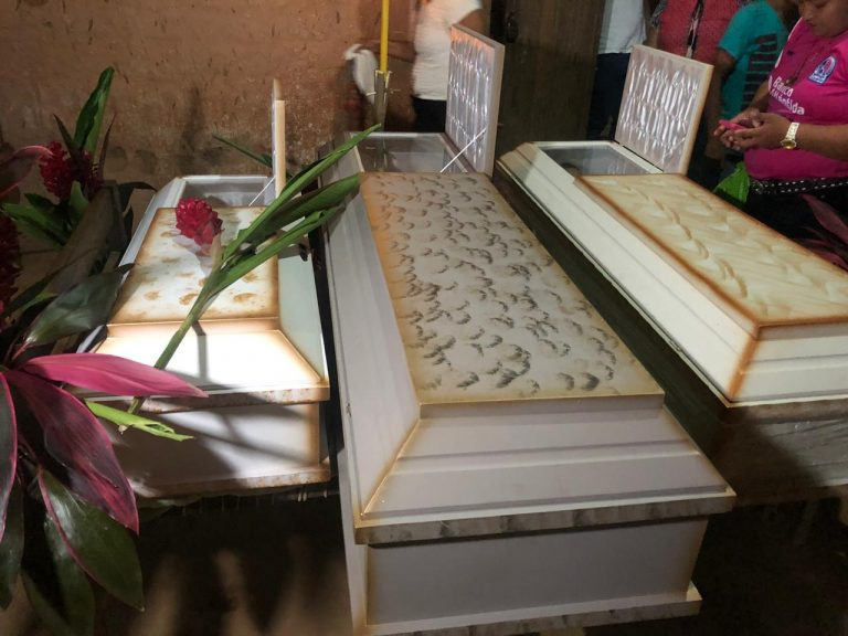 Sepultan a niños envenenados por su padre en El Corpus, Choluteca