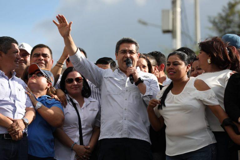 Tegucigalpa: nacionalistas realizan marcha en apoyo a JOH