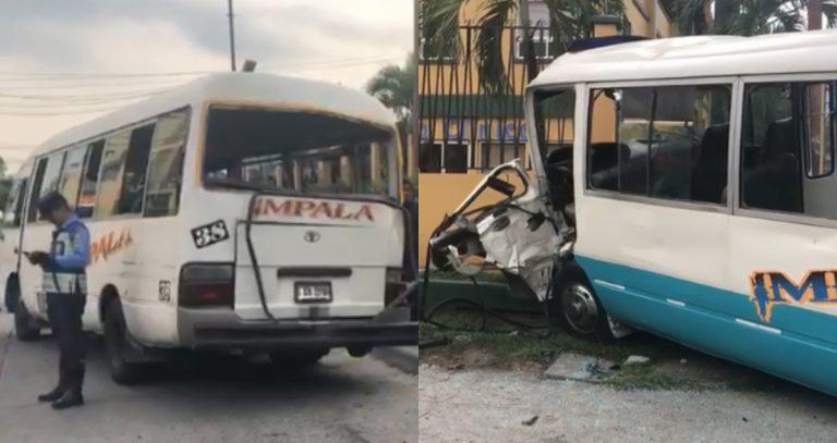 Choque entre dos buses de la empresa Impala deja 30 heridos en San Pedro Sula