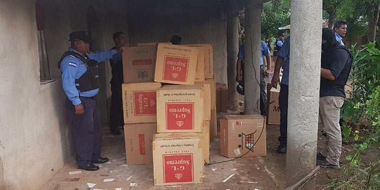 Choluteca: decomisan 200 cajas de cigarrillos valoradas en L2 millones