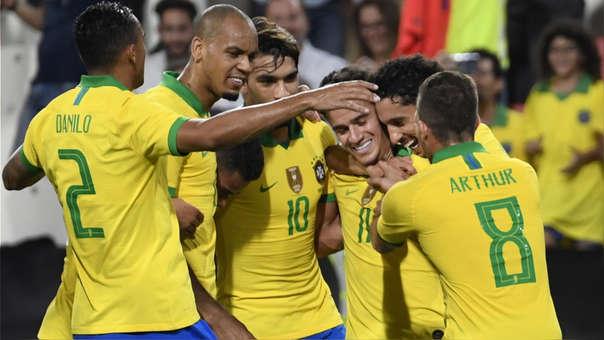 Brasil sale de su 'ahogo' y golea a Corea del Sur en amistoso
