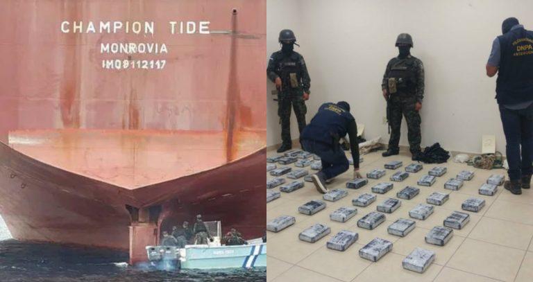 Contabilizan 60 kilos de supuesta droga dentro de barco interceptado en Puerto Castilla