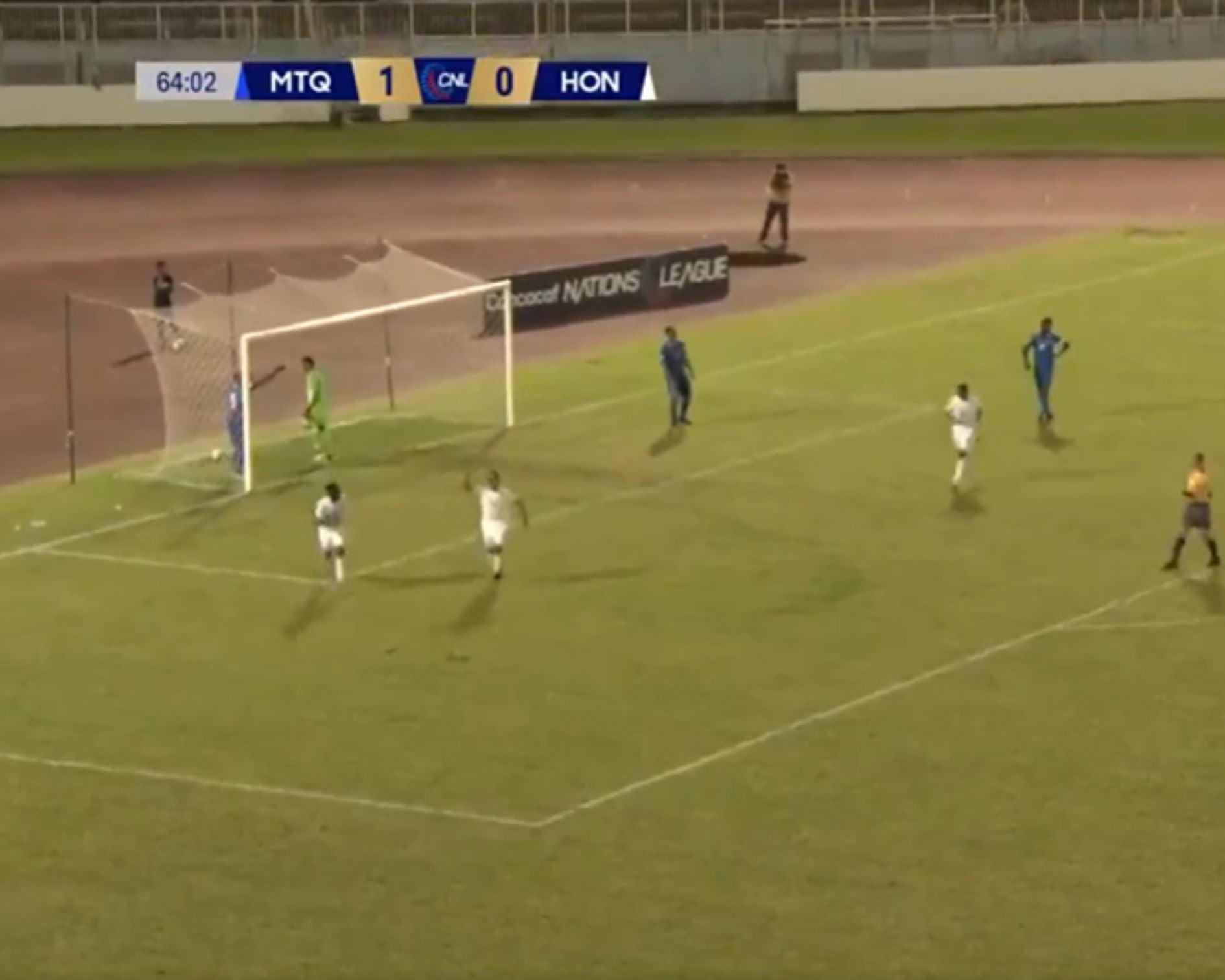 Juan Ramón Mejía se estrena con la 'H' anotando ante Martinica en Nations League
