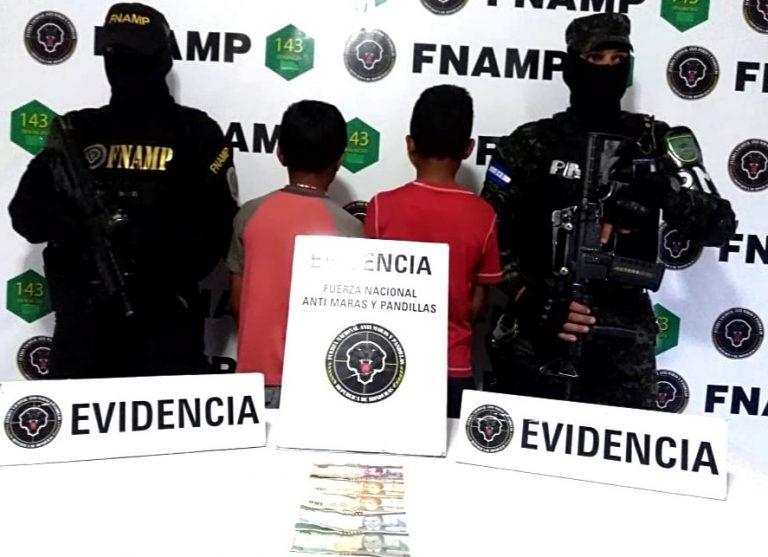FNAMP captura dos niños supuestos miembros de la pandilla 18