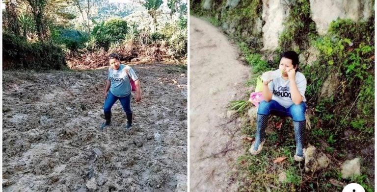 HISTORIA HUMANA: Yadira Zepeda maestra que camina dos horas para impartir clases