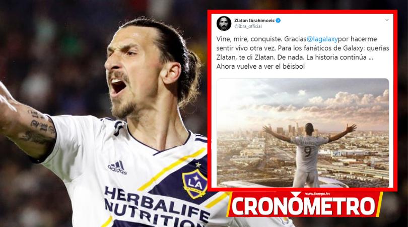 Ibrahimovic se despide de la MLS: «Sigan viendo béisbol»