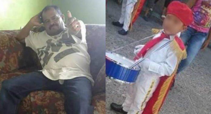 padre e hijo muertos en Copán