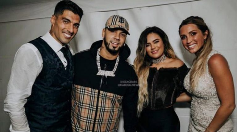 Luis Suárez renueva votos con su esposa al ritmo de Anuel AA y Karol G