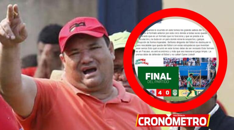 Ricardo Elencoff arremete: «Es una vergüenza lo ocurrido en este torneo»