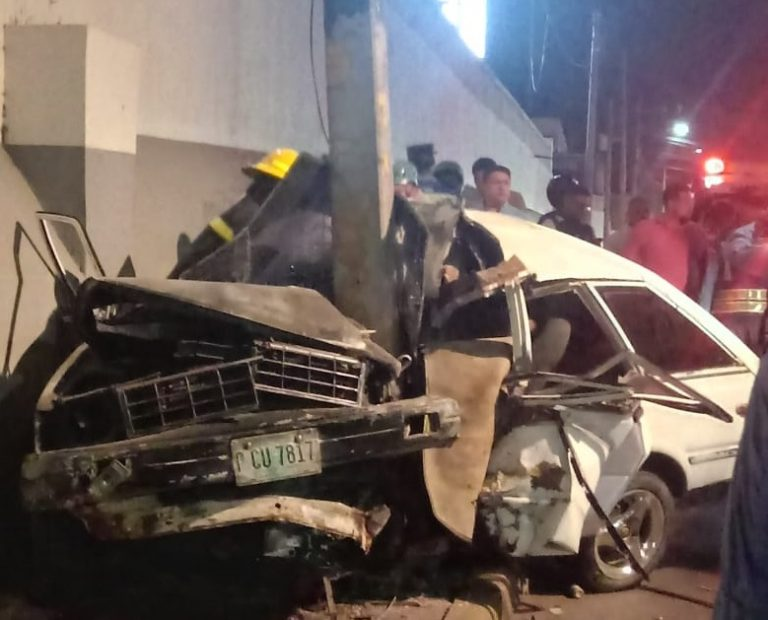Brutal colisión deja un muerto y un herido frente a Aeropuerto Toncontín