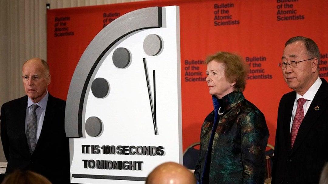 «Reloj del apocalipsis» muestra que faltan 100 segundos para el fin