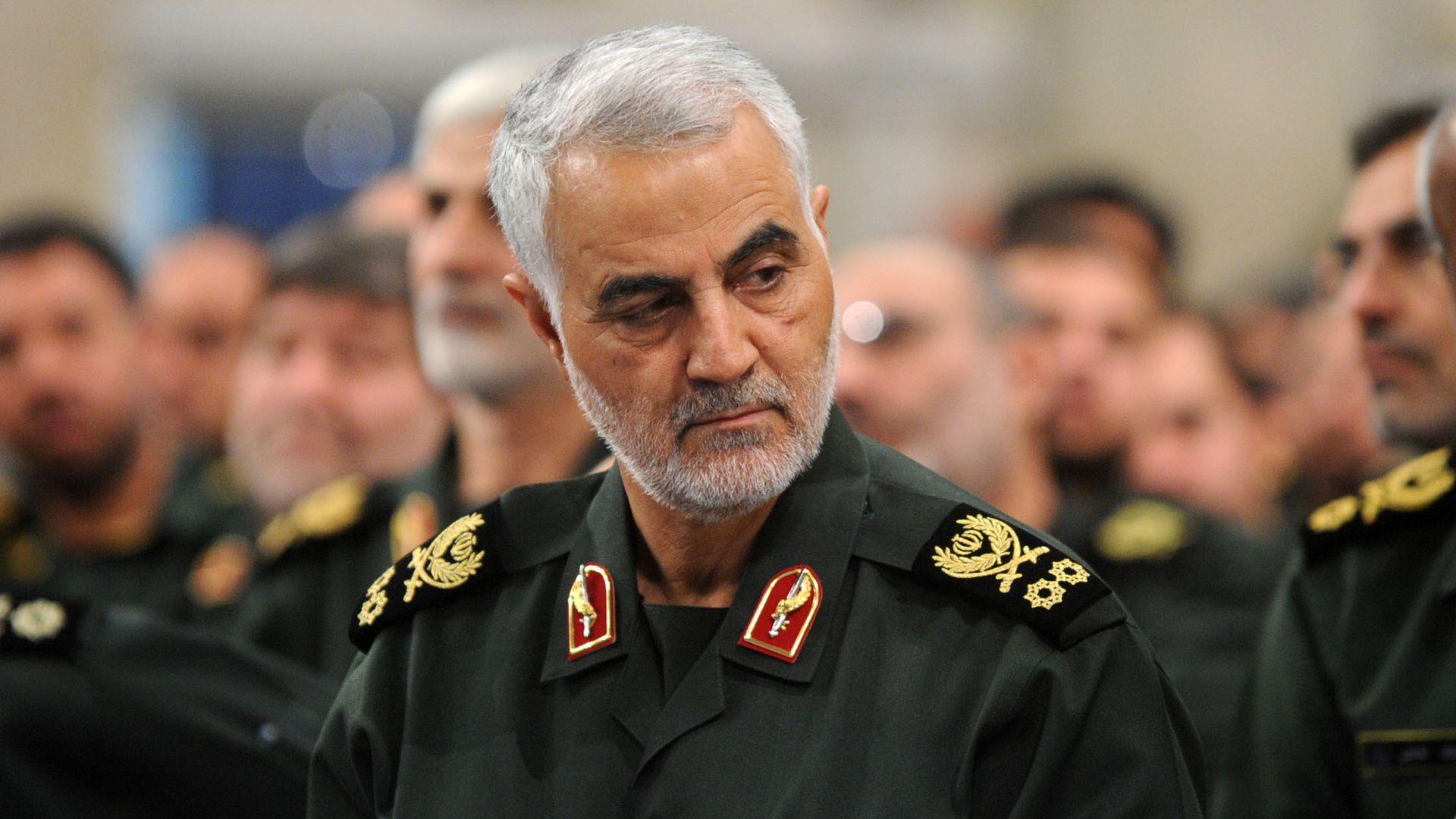 General Qasem Soleimani, comandante de las Fuerzas Quds de la Guardia Revolucionaria de Irán.