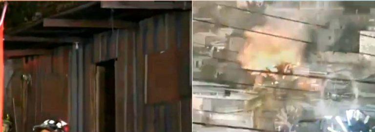 Comayagüela: familia queda en la calle tras quemarse su casa de madera