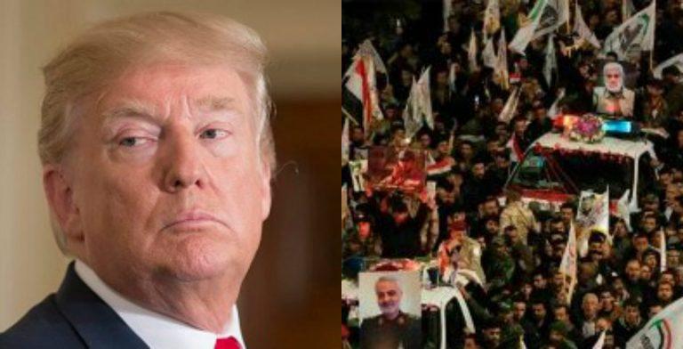 Tras muerte de general, iraníes ponen precio a cabeza de Donald Trump