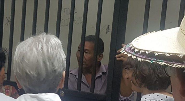 Tras casi 13 meses en prisión, defensor de Guapinol espera una «resolución justa»