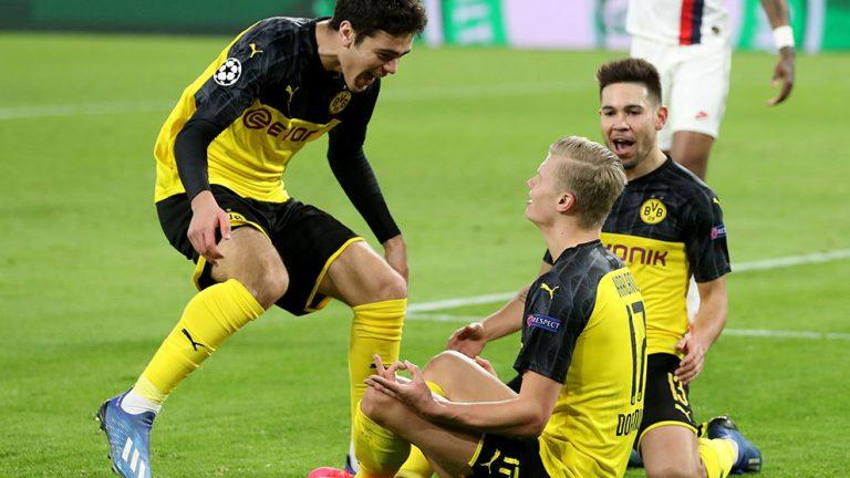 En la noche de Haaland, Dortmund venció al PSG en el Iduna