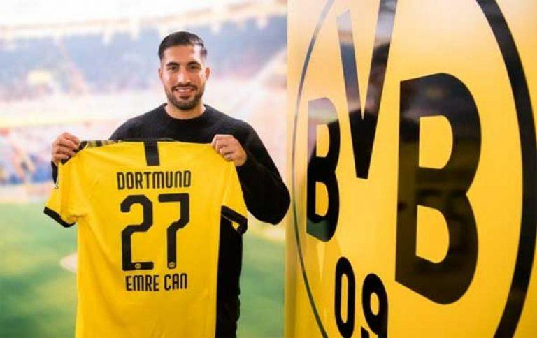 Emre Can es oficialmente jugador del Borussia Dortmund
